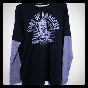 SOA Sons is Anarchy thermal tee shirt combo men's